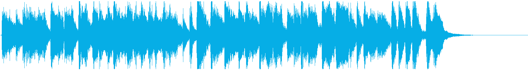 明るい陽気なラテン15秒曲、CMや動画にの再生済みの波形