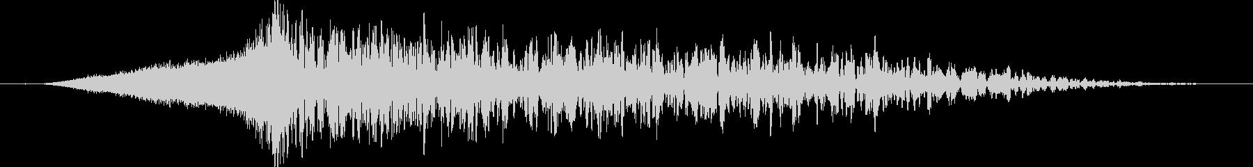 ワープ:タイムスリップする音の未再生の波形