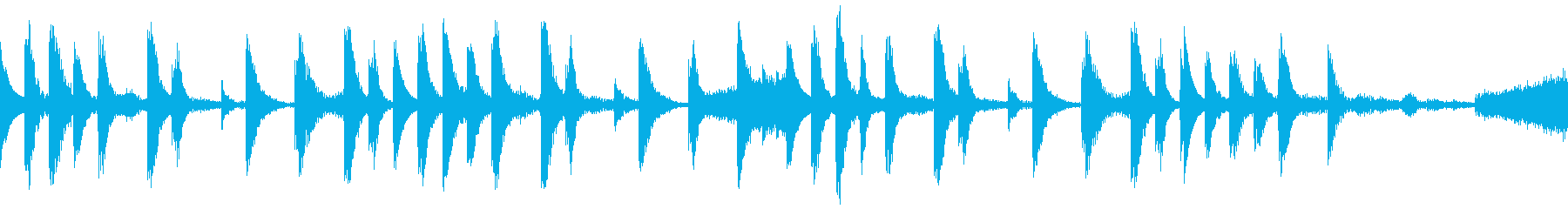 【ループD】浮遊感あるシンセが続くテクノの再生済みの波形