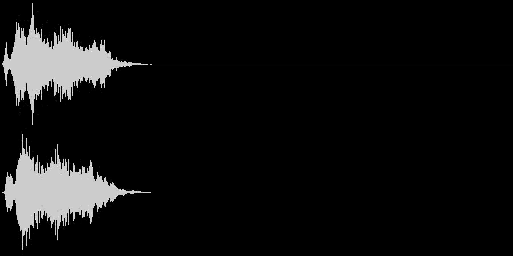 【ゲーム2】刀 ジャキン シャキン 金属の未再生の波形