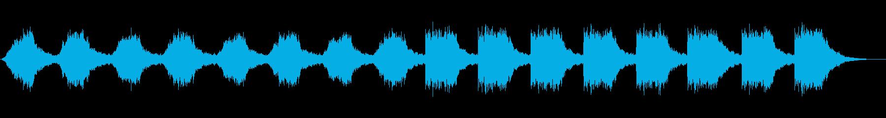 サスペンスやミステリーに適した不気味な曲の再生済みの波形