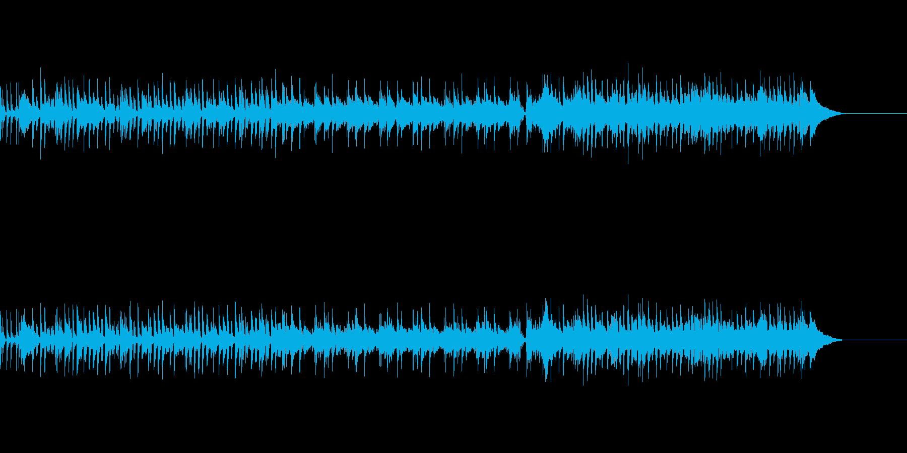 春の朝、新しい出来事をイメージたBGMの再生済みの波形