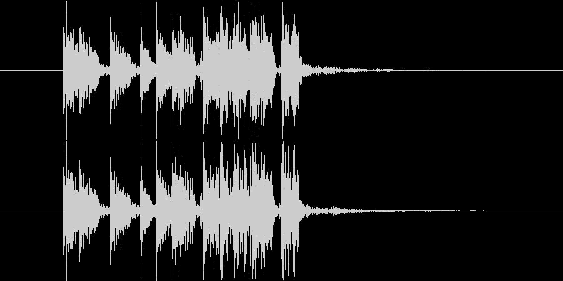 エレキギターの低音が印象的なジングルの未再生の波形