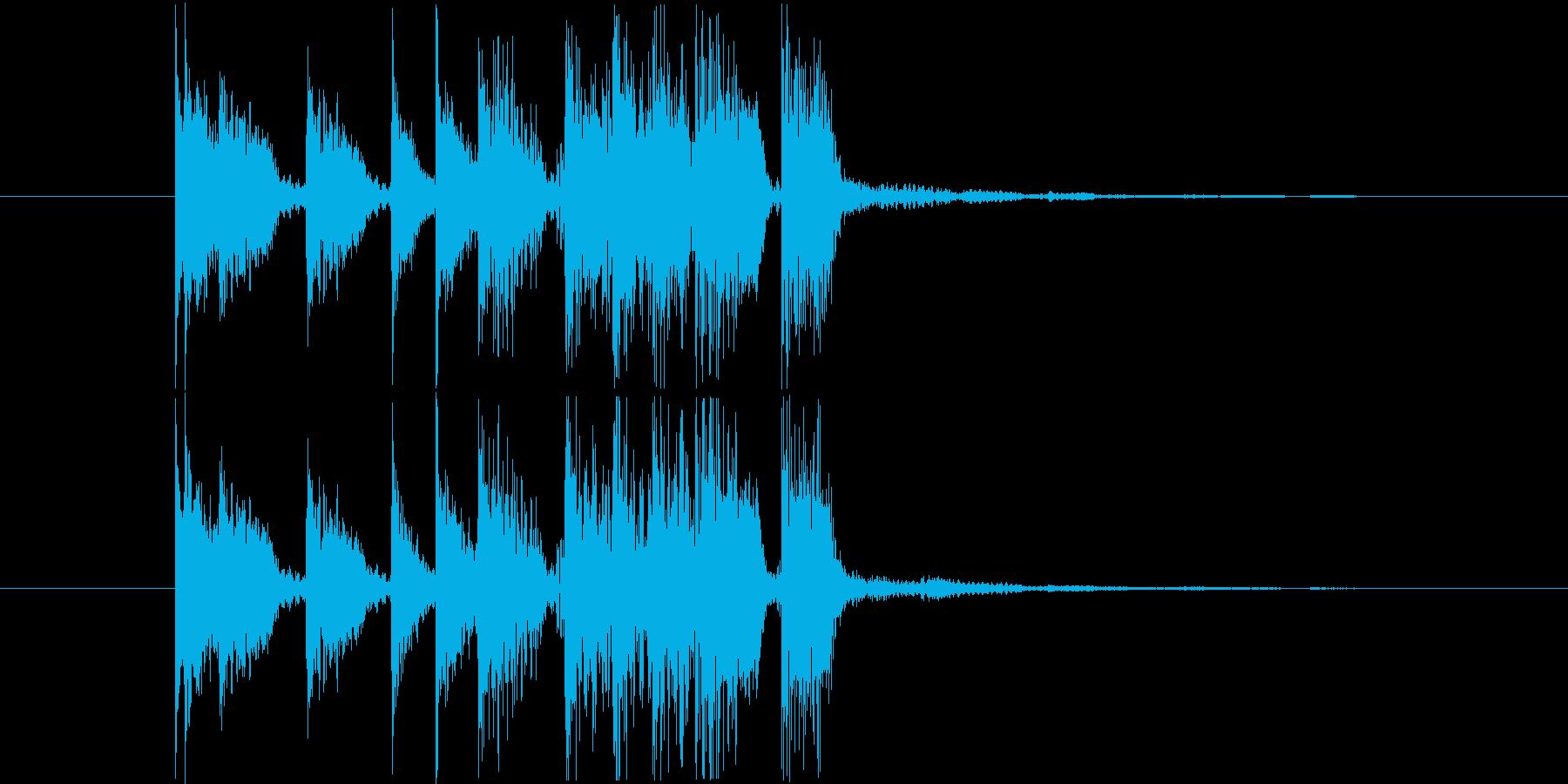 エレキギターの低音が印象的なジングルの再生済みの波形