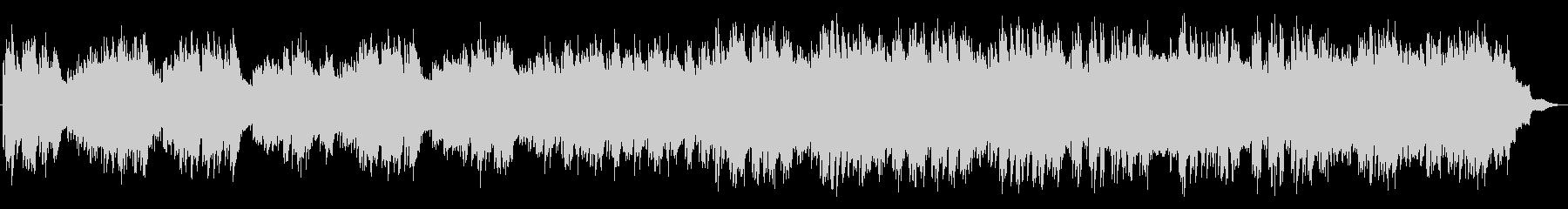 切ないピアノのメロディの映画音楽風の曲の未再生の波形