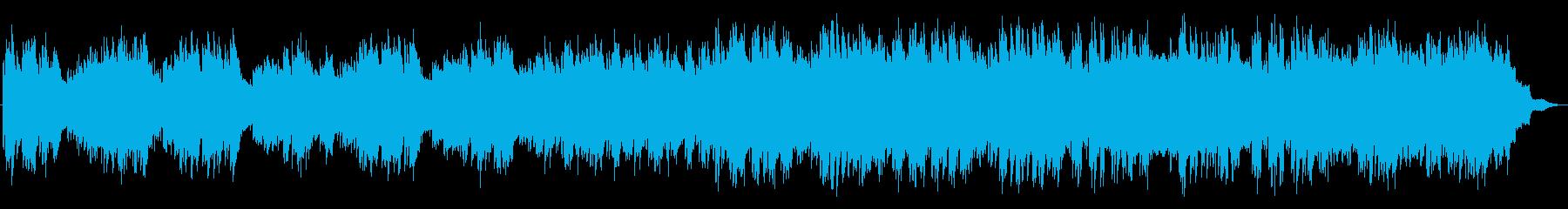 切ないピアノのメロディの映画音楽風の曲の再生済みの波形