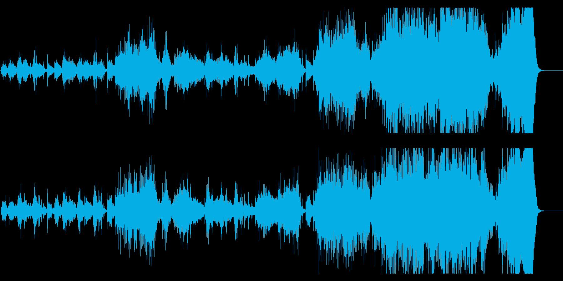 感動的で壮大 前向きなピアノバラードの再生済みの波形