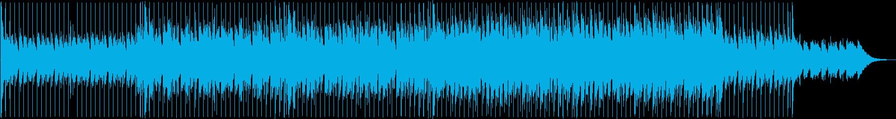 近未来的なテクノポップの再生済みの波形