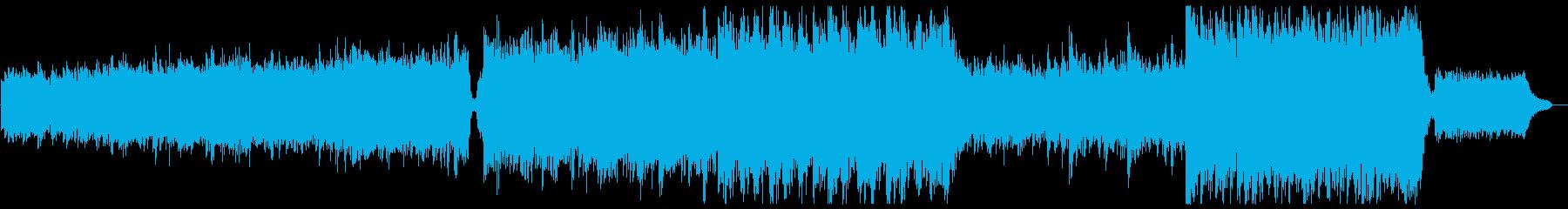 ハリウッド風シリアストレイラー:スネア抜の再生済みの波形