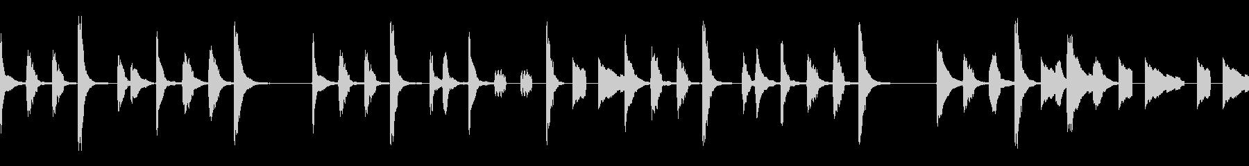 シンプルでコミカルな曲/ループ素材の未再生の波形