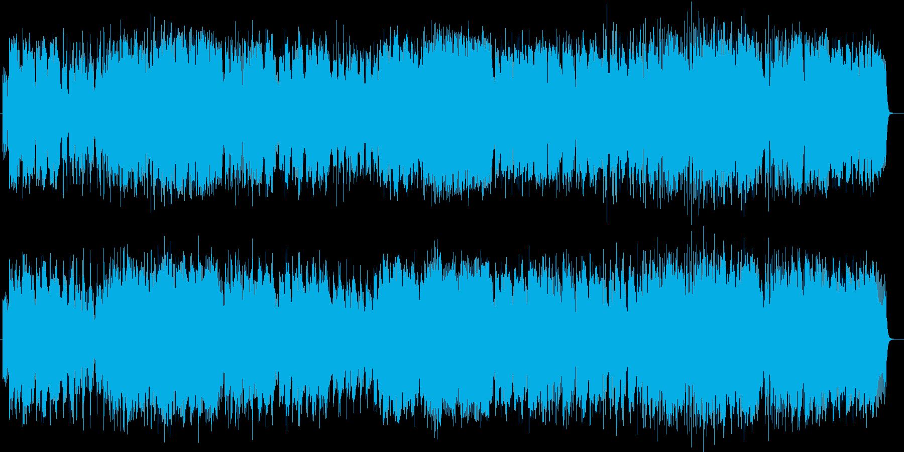 ほのぼのとしてやすらぎを覚えるポップスの再生済みの波形