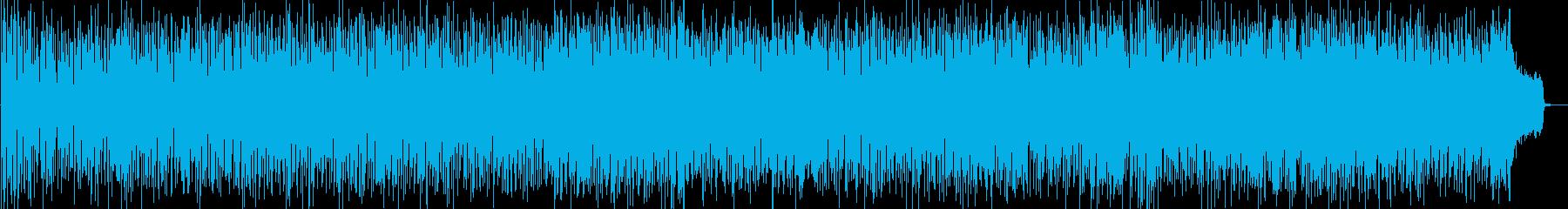 夏を感じるラテン系BGMの再生済みの波形