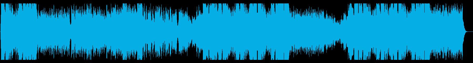 【YouTube】華やかな和風ロックの再生済みの波形