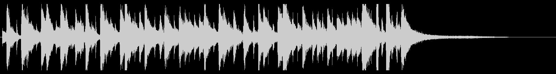 ほのぼのしたボサノバBGMの未再生の波形