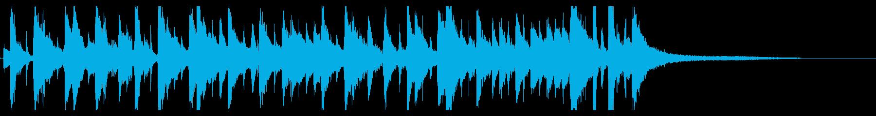 ほのぼのしたボサノバBGMの再生済みの波形