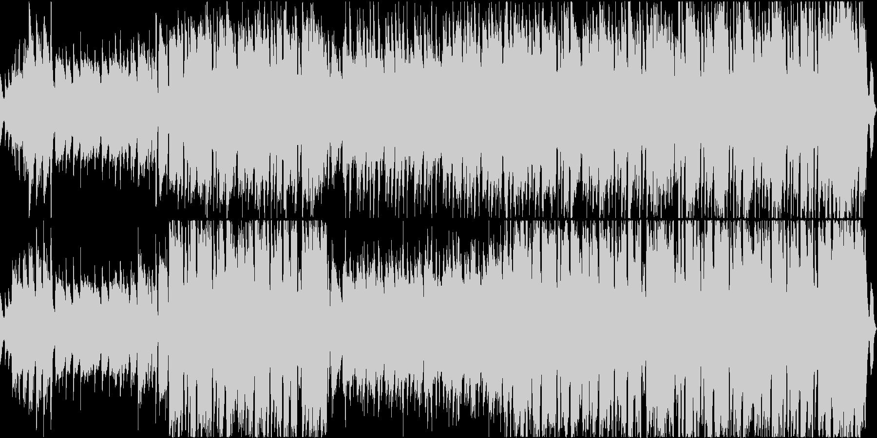 ギターメロディのノリノリのジャズの未再生の波形