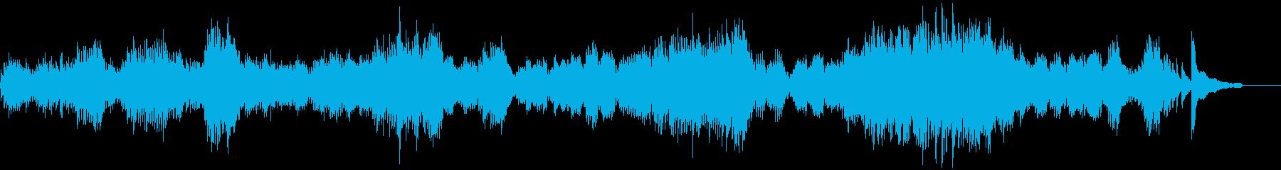 バッハ平均律クラヴィーア曲集の最初の曲の再生済みの波形