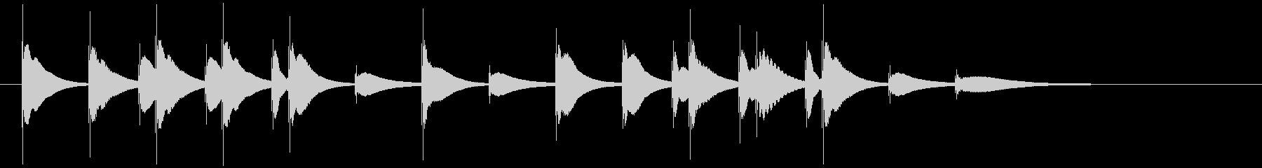 明るく可愛らしい木琴のジングル1の未再生の波形