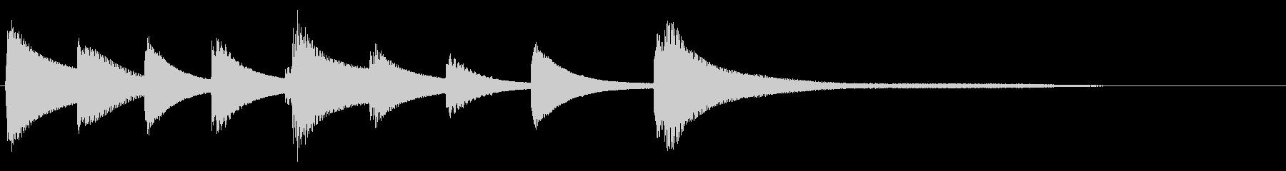 ジングル サウンドロゴの未再生の波形