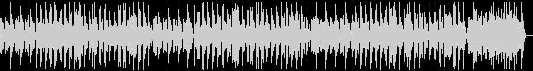 優しい甘いゆっくりなオルゴールの曲の未再生の波形