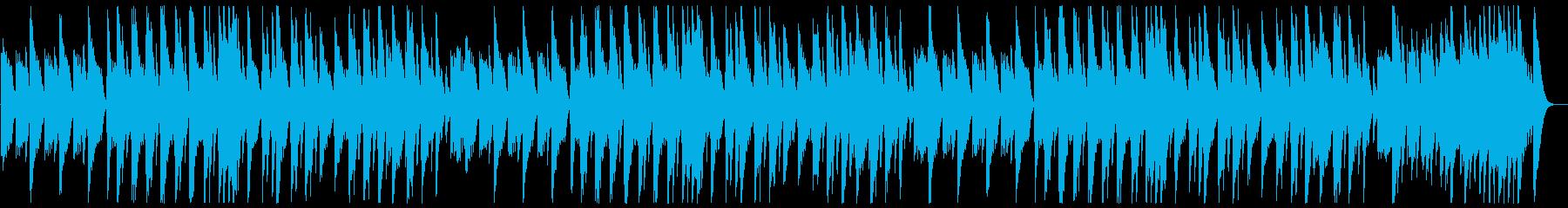 優しい甘いゆっくりなオルゴールの曲の再生済みの波形