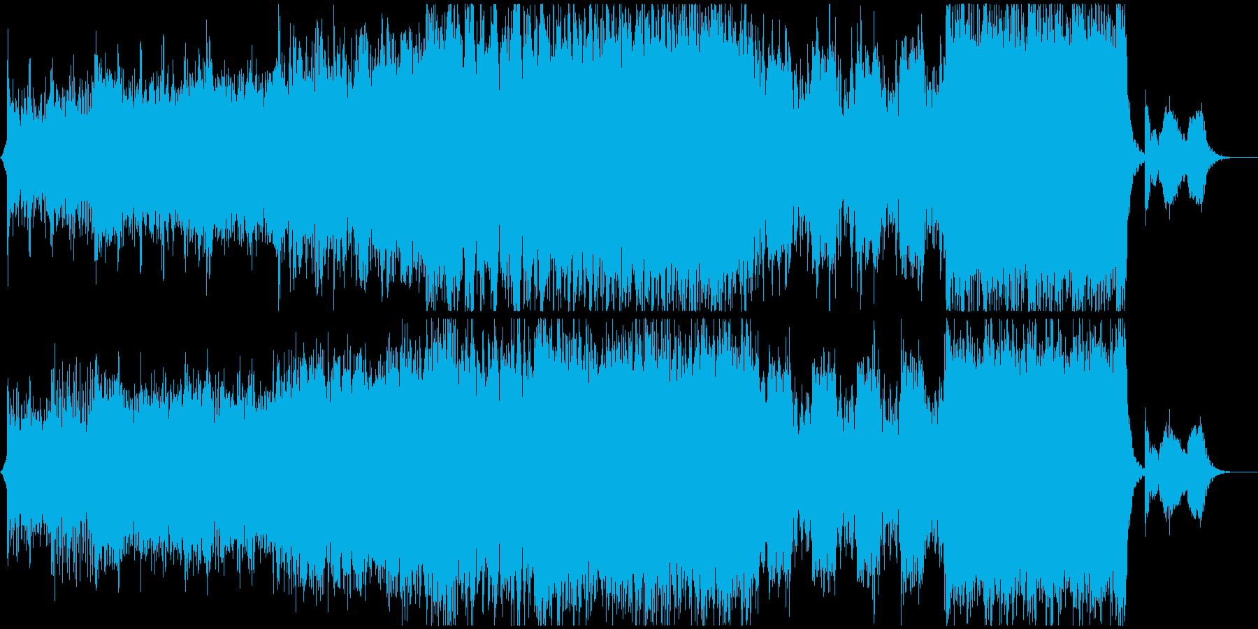 緊張感のある和風アクションオーケストラの再生済みの波形