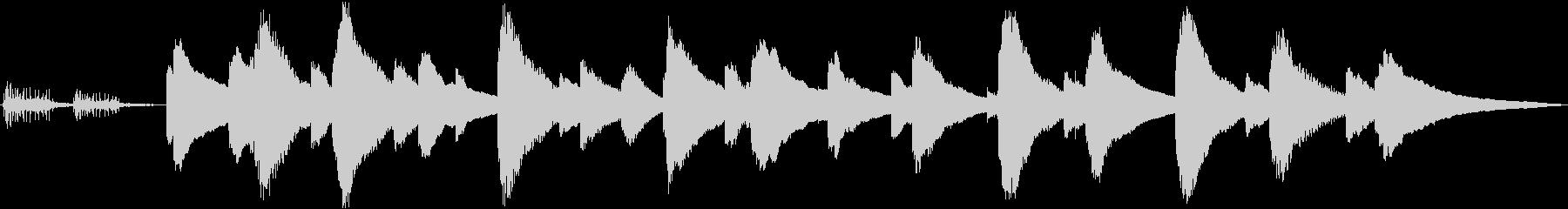 癒し系オルゴール(ねじ巻き音付き)の未再生の波形