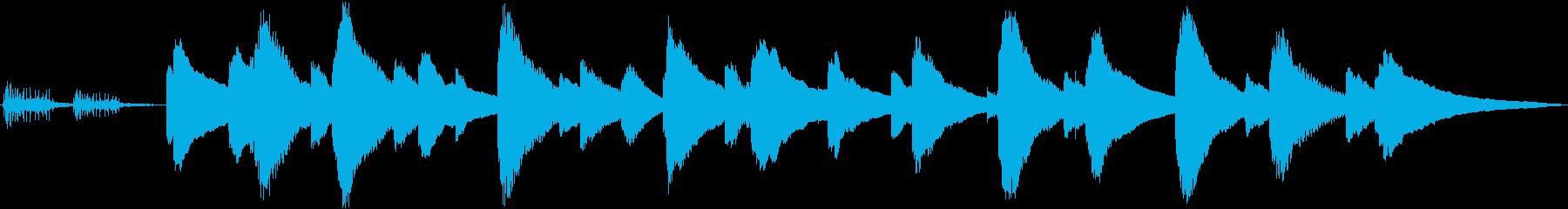 癒し系オルゴール(ねじ巻き音付き)の再生済みの波形