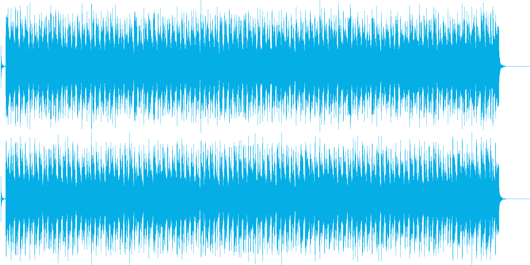 行進曲風の淡々としてコミカルなポップスの再生済みの波形