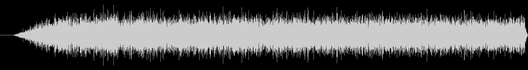 プロペラの回転音の未再生の波形
