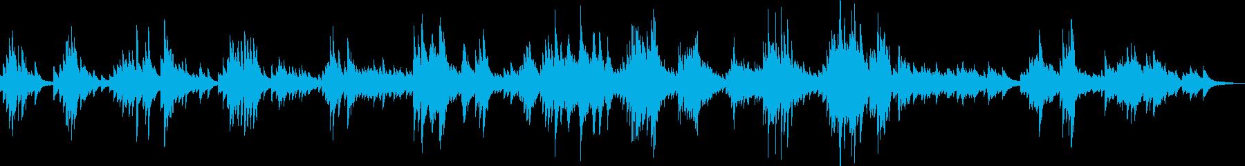 都会のバーで独り涙するピアノ曲(哀愁)の再生済みの波形