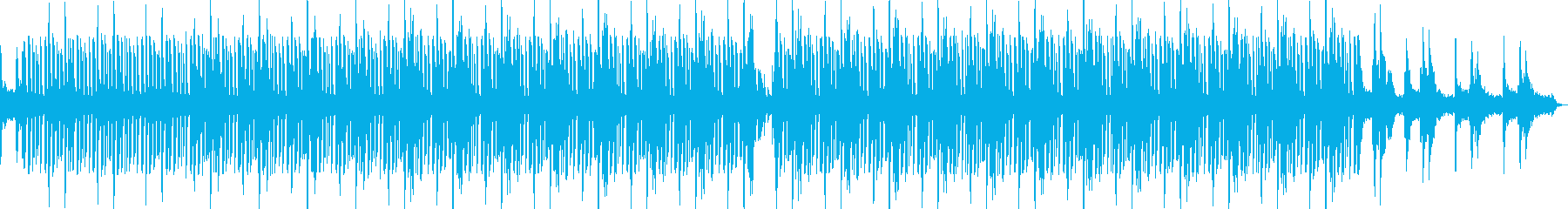 おしゃれで穏やかなビートミュージックの再生済みの波形