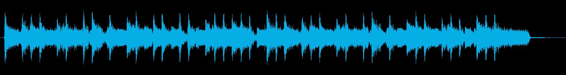 軽快なカッティングギターとドラムジングルの再生済みの波形