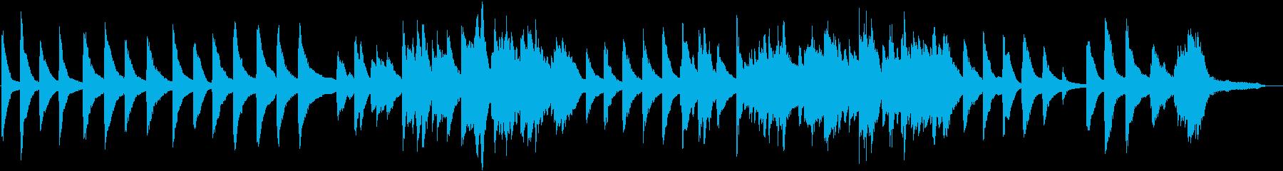 少し寂しく不安な和風のピアノの再生済みの波形