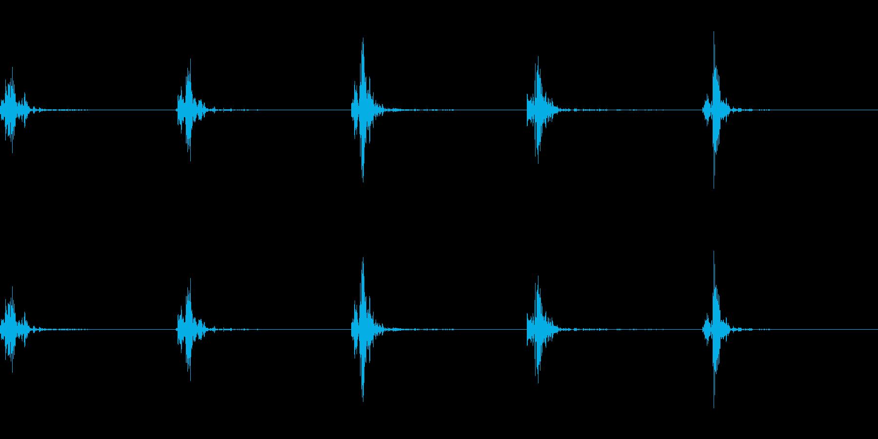 神楽鈴(小)を弱く振って鳴らした音の再生済みの波形