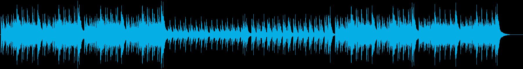 かわいいワルツ、アコースティックサウンドの再生済みの波形
