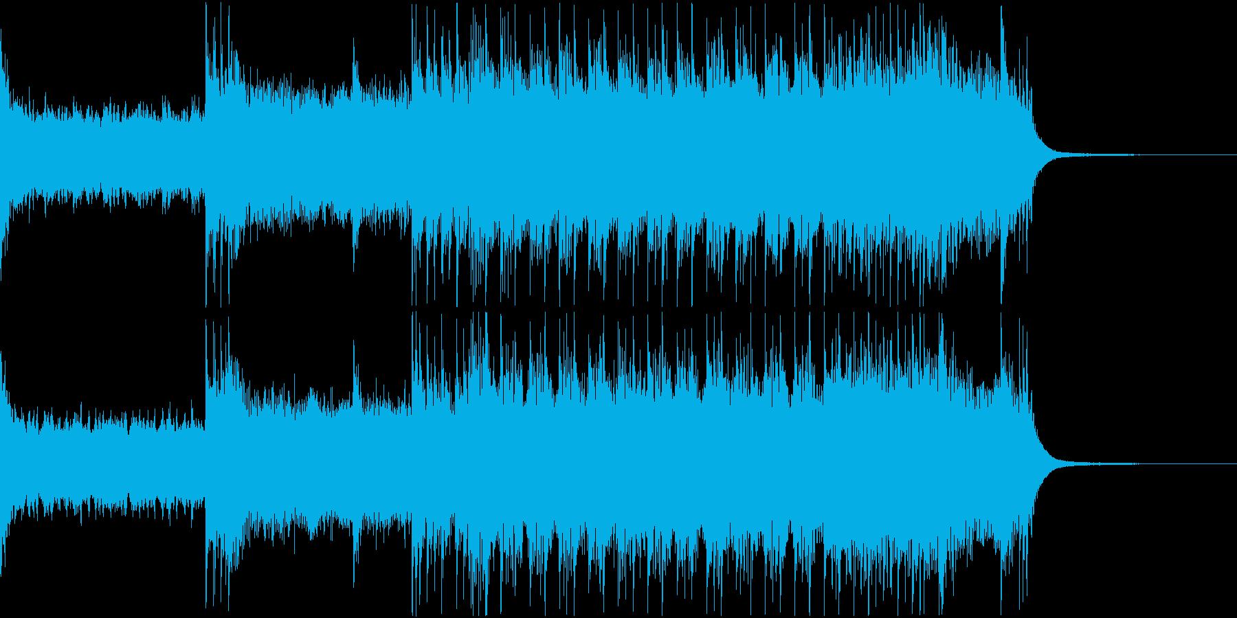 疾走感、爽快感溢れるロックジングルの再生済みの波形