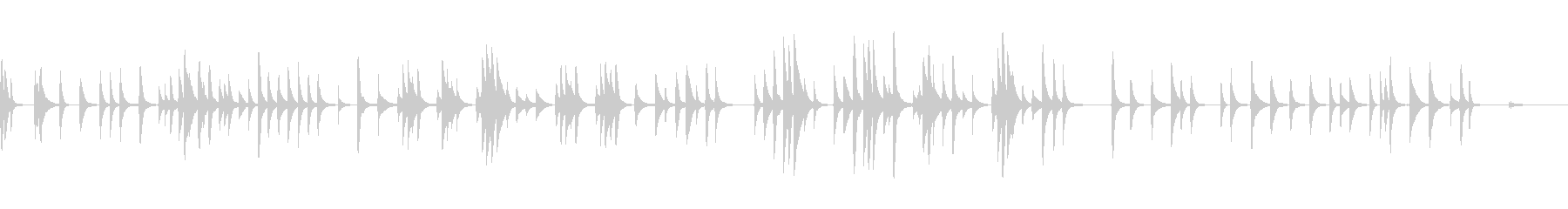 古いオルゴールの切なくも優しい曲 VRの未再生の波形