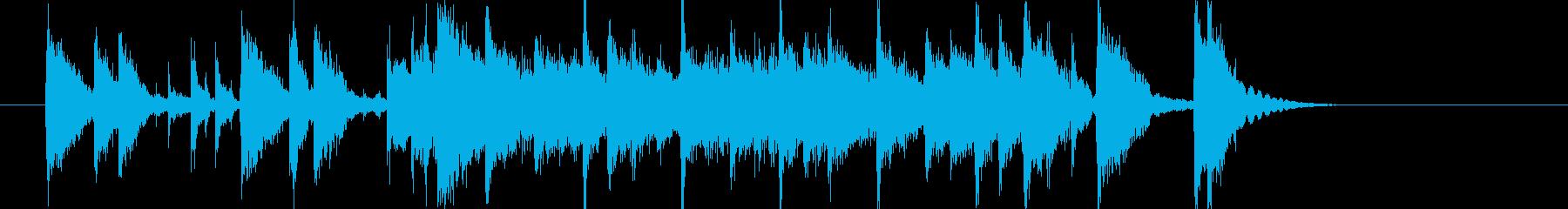 爽快なメロディのポップスの再生済みの波形