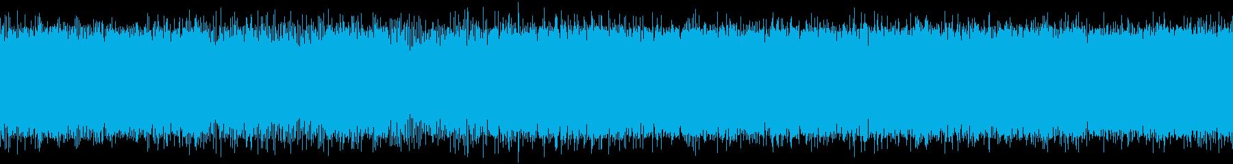 ヘリコプターの飛行中の音の再生済みの波形