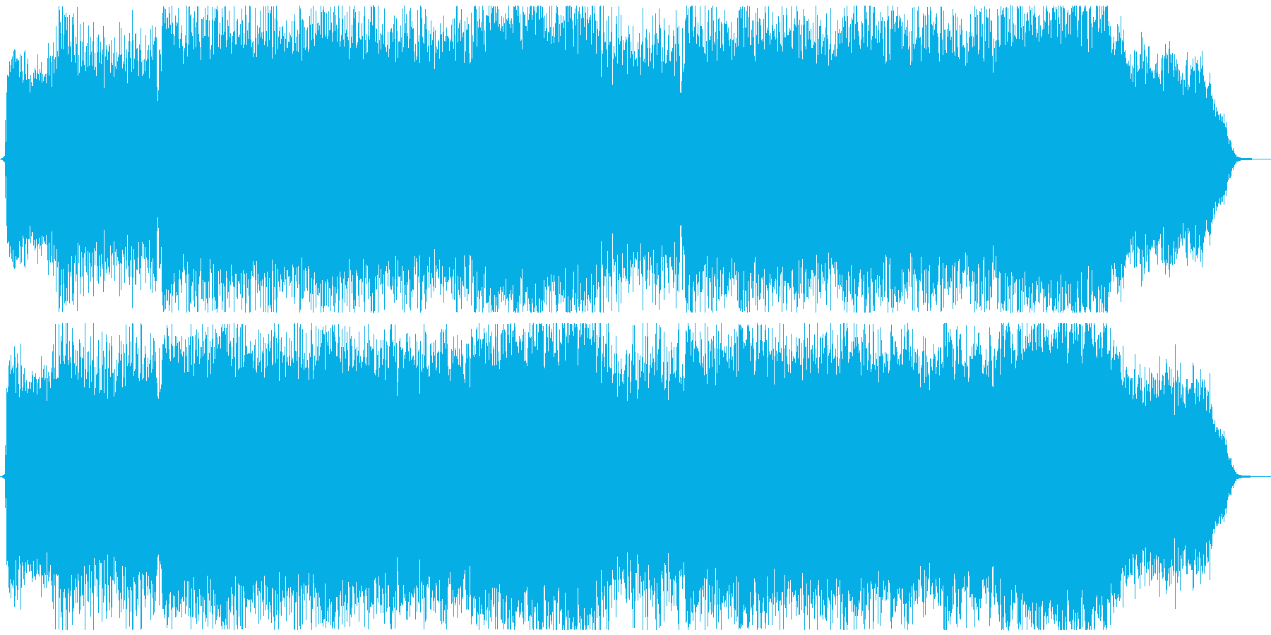 ラストバトル・激しいシンフォニックメタルの再生済みの波形