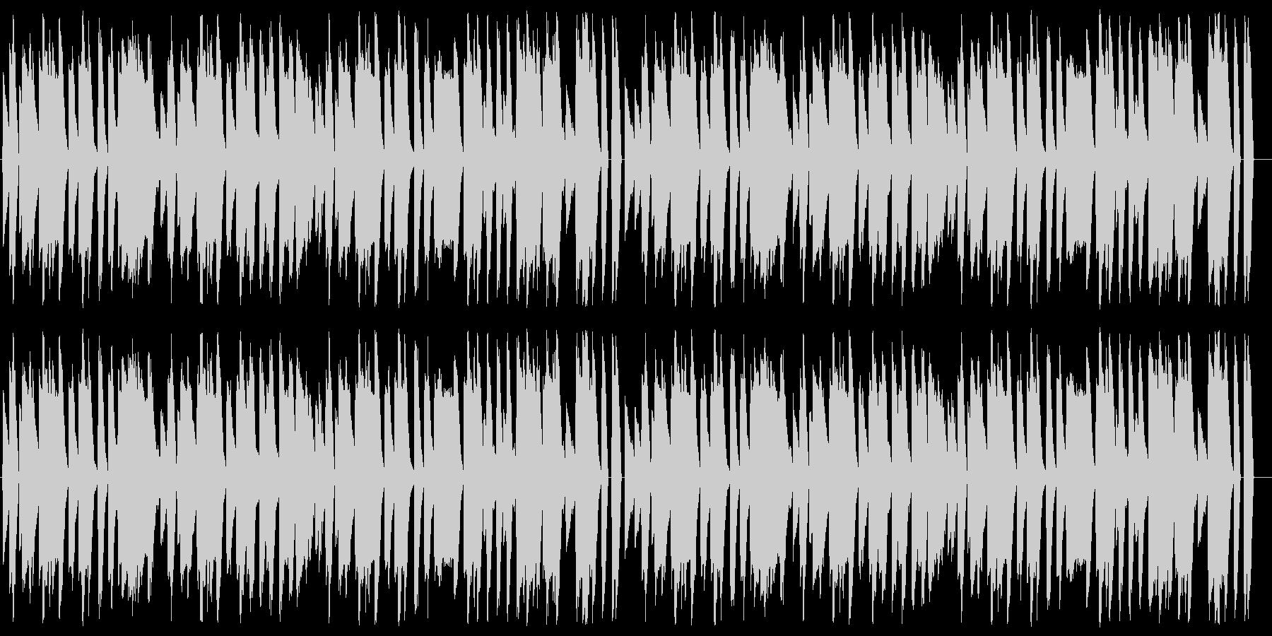 マリオ風の楽しい8bitファミコンBGMの未再生の波形