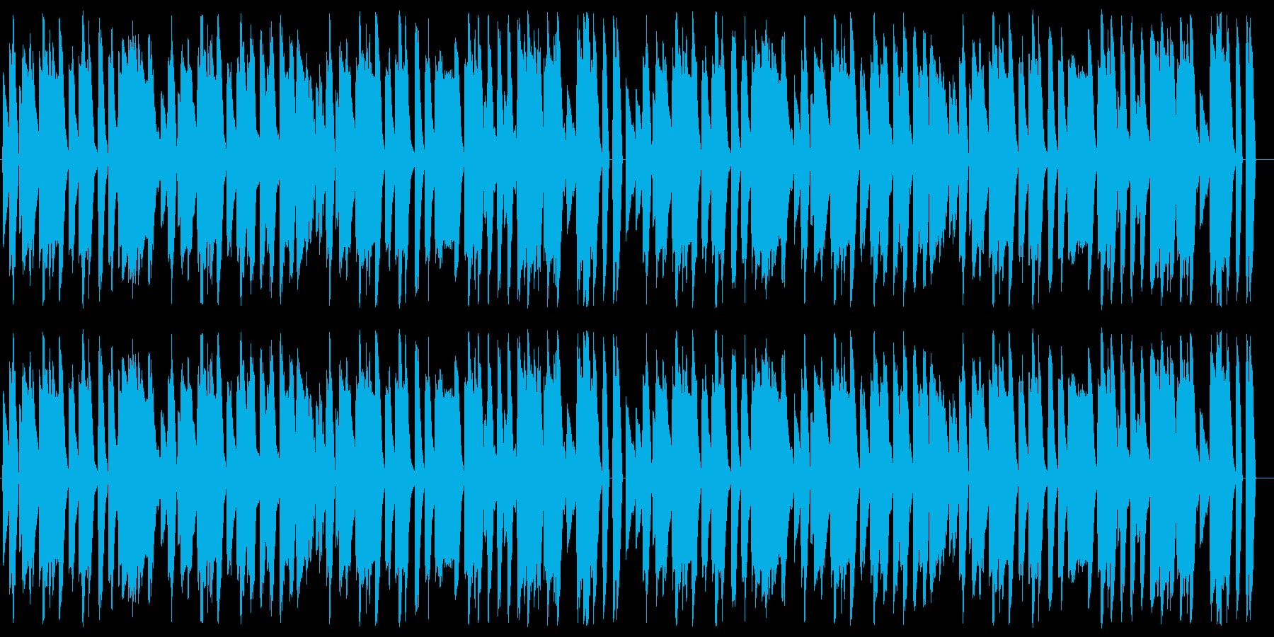 マリオ風の楽しい8bitファミコンBGMの再生済みの波形