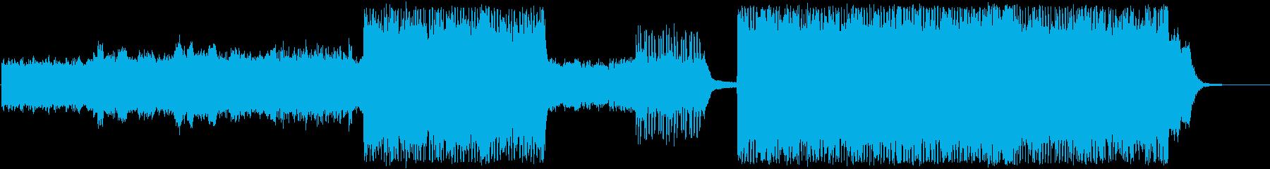 幻想的なテクスチャー ドラムンベースの再生済みの波形