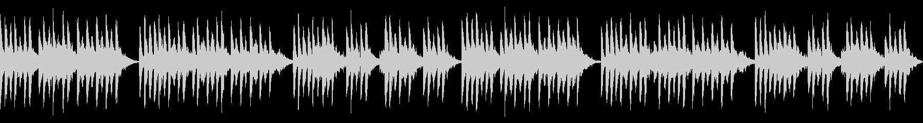 ダークでポップでゆったりと柔らかい曲の未再生の波形