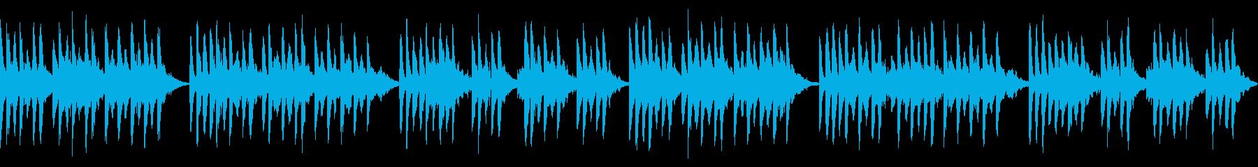ダークでポップでゆったりと柔らかい曲の再生済みの波形