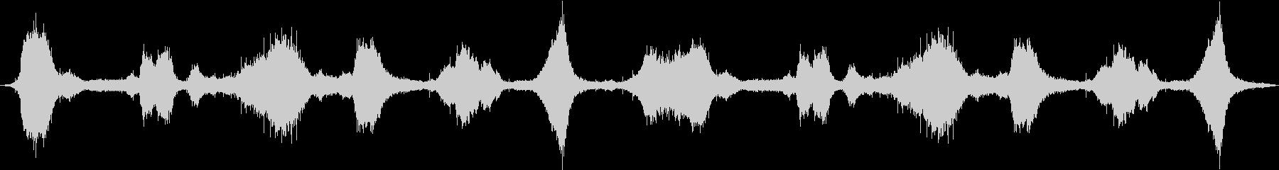 ヘビー、オーシャン、サーフ、ウェーブの波の未再生の波形