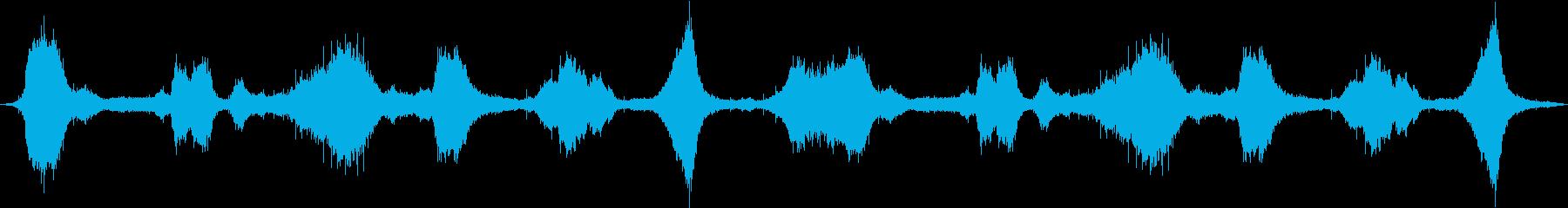 ヘビー、オーシャン、サーフ、ウェーブの波の再生済みの波形