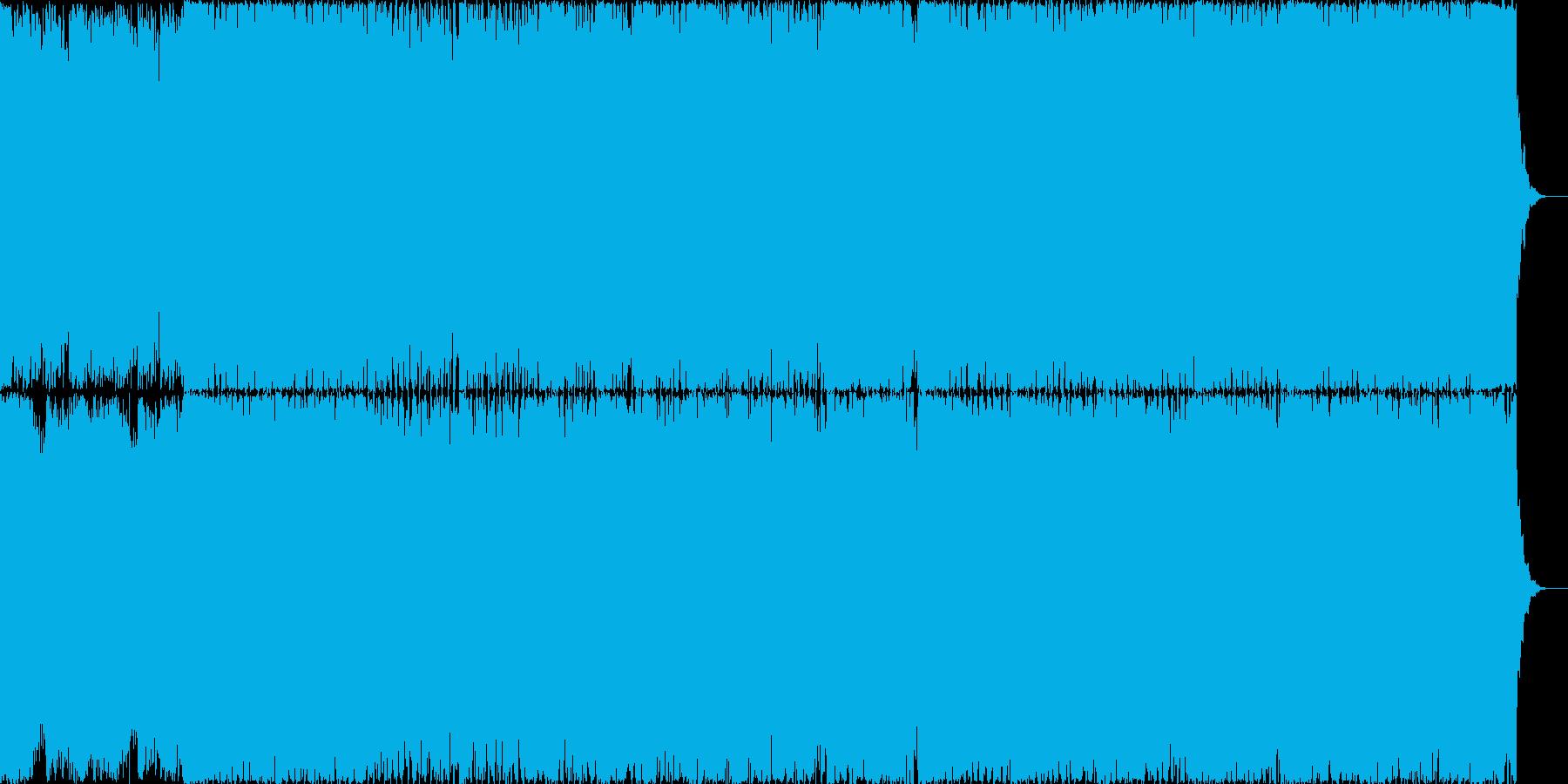 疾走感のあるシンセと4つ打ちの再生済みの波形