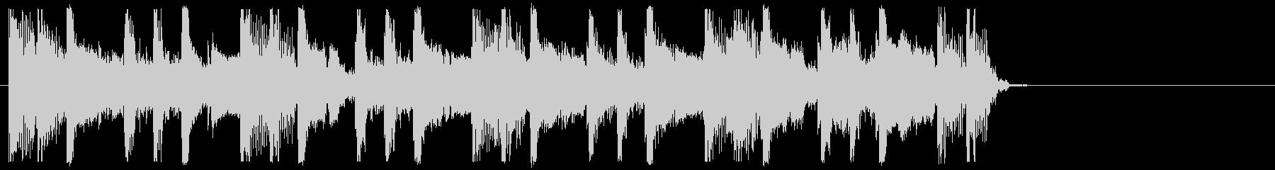 エレキギター・ストンプ・クラップジングルの未再生の波形